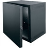 """10 Space (17-1/2), 15 Deep Wall Rack With Locking Front Door, Black Finish"" (midatl_SBX-10)"