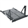 """5 Space Heavy Duty Sliding Shelf, 5 RU, 19 Inch Width x 23 Inch Depth x 10.46 Inch Height, Steel, Black"" (midatl_SS5-23VTR)"