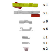 SUBARU LEGACY 1994 - 1999 WINDSCREEN SIDES CLIP KIT PACK OF 22