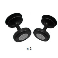 AUDI 80 & 100 1983 - 1993 DOORGLASS GUIDE (MUSHROOMS) PACK OF 2
