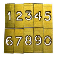 SAFEGARD 4mm HIGH NUMBER STENCIL SET ' 0 - 9 '