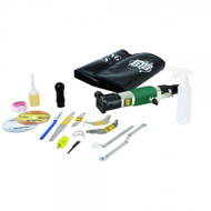 BTB STARTER 4 BLADE INTRO KIT IN VINYL TOOL ROLL includes heavy duty air power tool + instruction CD