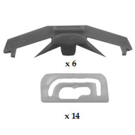 MITSUBISHI GALANT 1988 - 1993 WINDSCREEN CLIP KIT PACK OF 20