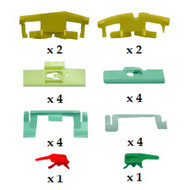 HONDA ACCORD COUPE 1994 - 1998 WINDSCREEN SIDES CLIP KIT PACK OF 22