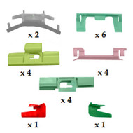 HONDA SHUTTLE 1995 - 2000 WINDSCREEN SIDES CLIP KIT PACK OF 22