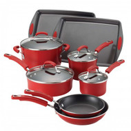 Rachael Ray Red Porcelain Nonstick 12 Pc. Set