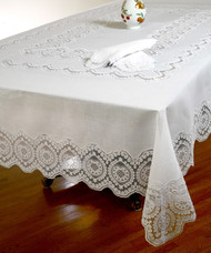 European Vintage Lace Tablecloth