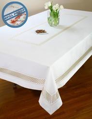 European Basket Weave Tablecloth