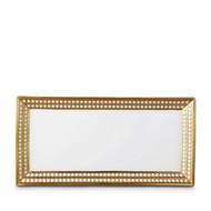 L'Objet Perlée Gold Rectangular Platter