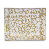 Gold Pebble Glass Tray