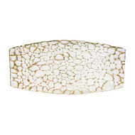 Pebble Gold Oval Glass Tray