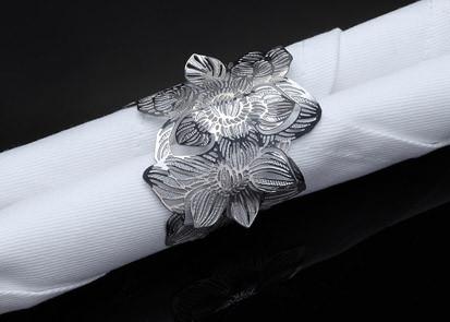 Metalace Wild Beauty Napkin Ring Set