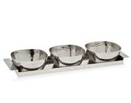 Godinger Croco Tray & Bowls
