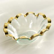 Annie Glass Ruffle Dip Bowl- Gold