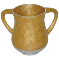 Unbreakable Aluminum  Washing Cup- Gold Marble
