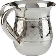 Nickel Plated Washing Cup- Diamond /Dotted Design