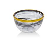 Godinger Black/ Gold Alabaster Bowl