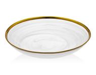 """Godinger White/ Gold Alabaster 8.5"""" Bowl"""
