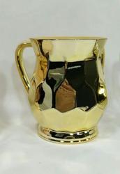Gold Hexagon Metal Coated Washing Cup