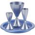 Blue Anodized Aluminum Havdalah Set