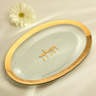Annie Glass Seder Plate- Gold