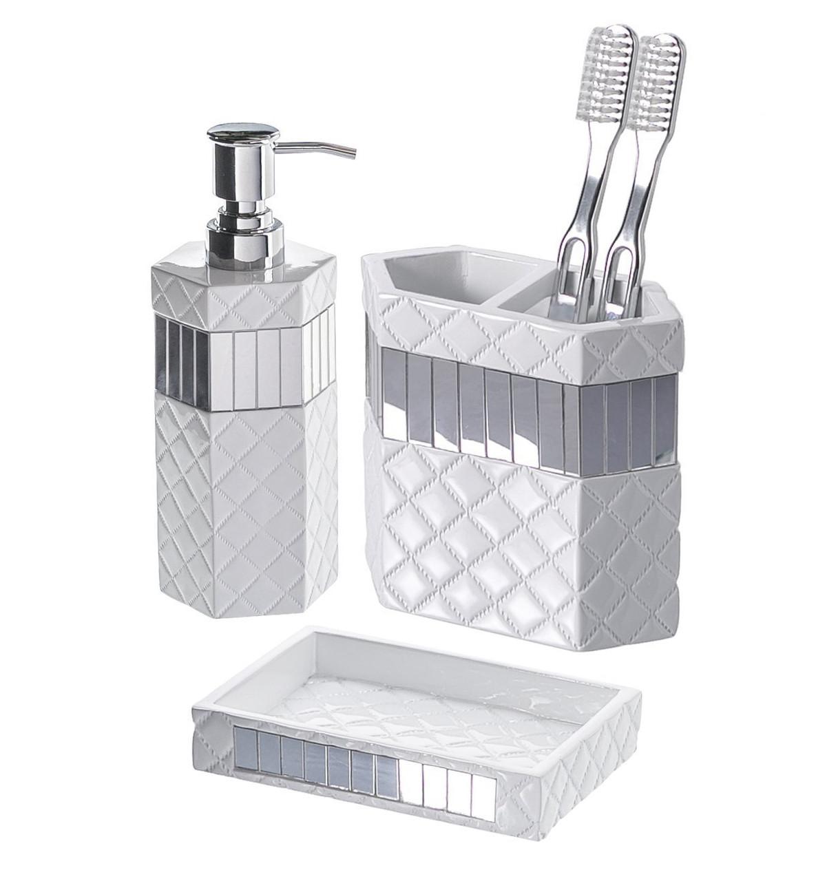 Quilted Mirror Bathroom Set Kallahregistry