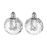 Badash Zendra Crystal Salt & Pepper Set- Platinum