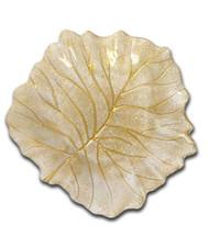 Trophy Gold Beveled Leaf Dish