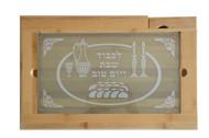 Matte Glass Challah Board & Knife