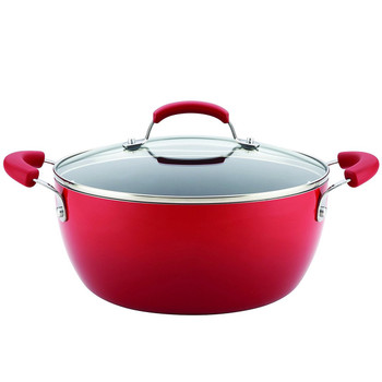 Rachael Ray 5.5 Qt Hard Enamel Nonstick Covered Casserole - Red (17660)