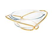 Godinger Round Baker- Gold (84359)