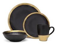 Godinger Golden Onyx Dinner Set (Service for 1) (70110)