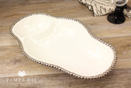Pampa Bay Salerno 2-Section Serving Piece (CER-2025-W)