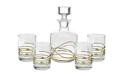 Swirl Gold Liquor Set of 5 (CSLSG392)
