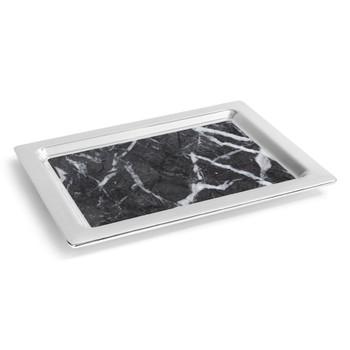 ANNA Dual Tray - Carrico Marble / Silver (CIR-TRRC-01T)