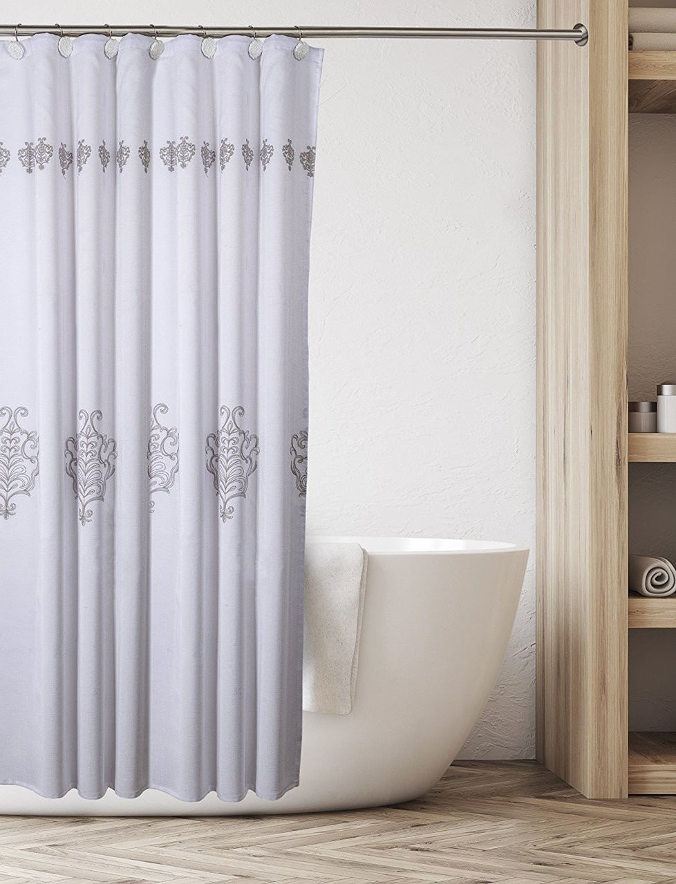 Vintage White Shower Curtain Click To Enlarge Image