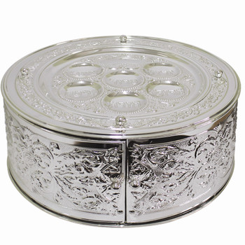 Silver Plated 3 Tier Seder Plate (SPTF11052)
