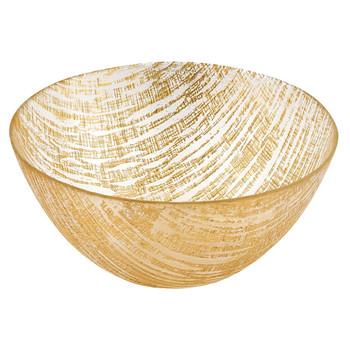 "Badash Gold Lines 8"" Glass Bowl (KM700G)"