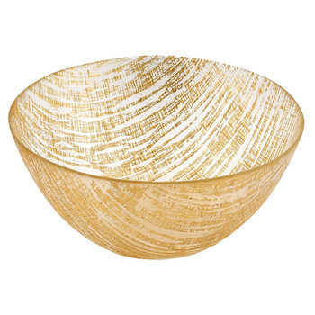 "Badash Gold Lines 8"" Glass Bowl (KM700G)"