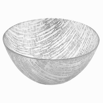 "Badash Silver Lines 11"" Glass Bowl"