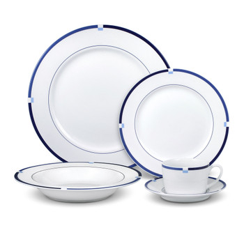 Mikasa Jet Set Blue Dinnerware Set (Service for 4) (5132147)