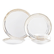 Mikasa Swirl Gold Dinnerware Set (Service for 4) (K205151252)