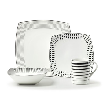 Mikasa Cheers Square Dinnerware Set (Service for 1) (5080598)