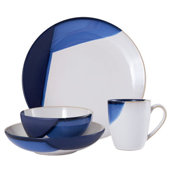 Mikasa Caden Blue Dinnerware Set (Service for 4) (5216710)