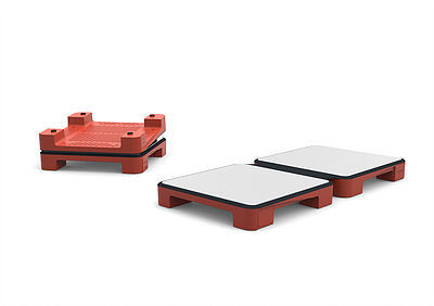 HotMat 2 Dish Connect Warming Plate- Red (HOTMATCNCTR)