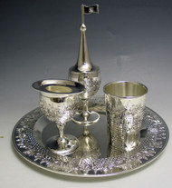 Pewter Jerusalem Havdalah Set (4214-S)
