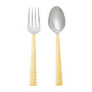 Michael Aram Twist Salad Server Set - Gold (325163)