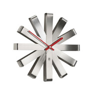 Ribbon Wall Clock - Steel (118070-590)
