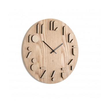 Shadow Wall Clock - Natural (118080-390)