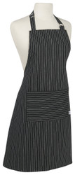 Black Pinstripe Chef Apron